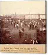 Circus Train Wreck, 1896 Canvas Print
