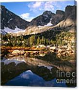 Cirque Of The Towers In Lonesome Lake 2 Canvas Print