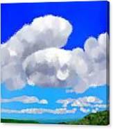 Cumulus Impressionism Canvas Print