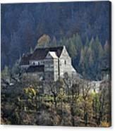 Cisnadioara Michelsberg Siebenbuerger medieval Castle Canvas Print