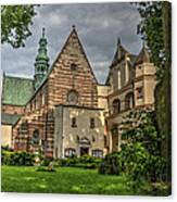 Cistercian Church From 12th And 13th Century In Wachock In Poland Canvas Print