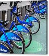 Citibike Rentals Nyc Canvas Print