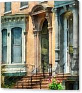 Cities - Albany Ny Brownstone Canvas Print