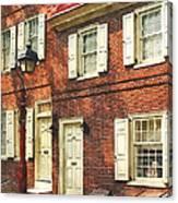 Cities - Philadelphia Brownstone Canvas Print