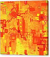 Citrus Circuitry Canvas Print