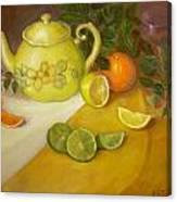Citrus n Tea Canvas Print