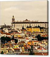 City And Cathedral Lisbon Portugal Canvas Print