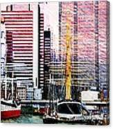 City And Water Canvas Print