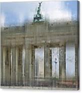 City-art Berlin Brandenburg Gate Canvas Print