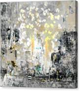 City-art Manhattan Sunflower Canvas Print