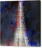City-art Paris Eiffel Tower In National Colours Canvas Print