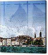 City-art Venice Panoramic Canvas Print