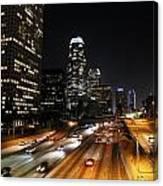 City At Night - Los Angeles Canvas Print