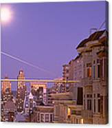 City At Night, San Francisco Canvas Print