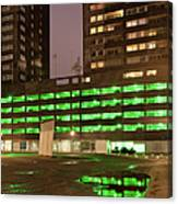 City At Night Urban Abstract Canvas Print