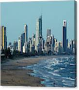 City At The Waterfront, Surfers Canvas Print