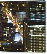 City Blur Canvas Print