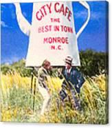 City Cafe - Nostalgic Monroe North Carolina Canvas Print