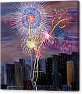 City Celebration San Francisco Bay Canvas Print