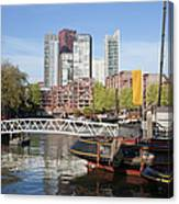 City Centre Of Rotterdam In Netherlands Canvas Print