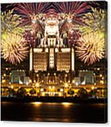 City Fireworks Canvas Print