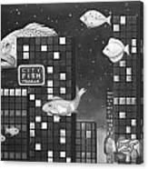 City Fish Edit 3 Canvas Print
