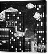 City Fish Edit 4 Canvas Print
