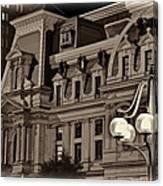 City Hall At Night Closeup Canvas Print