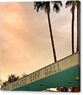City Hall Sky Palm Springs City Hall Canvas Print