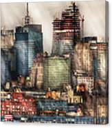 City - Hoboken Nj - New York Skyscrapers Canvas Print