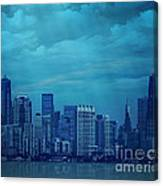 City In Blue Canvas Print
