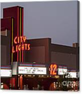 City Lights Marquee Canvas Print