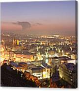 City Lit Up At Night, Esslingen Canvas Print