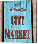 City Market Sign Canvas Print