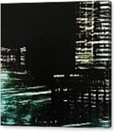 City Negative Canvas Print