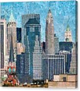 City - Ny - A Touch Of The City Canvas Print