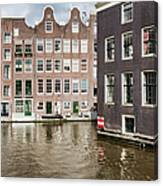 City Of Amsterdam Canal Houses Canvas Print