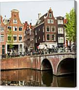 City Of Amsterdam In Holland Canvas Print