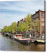 City Of Amsterdam In The Netherlands Canvas Print