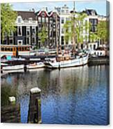 City Of Amsterdam River View Canvas Print