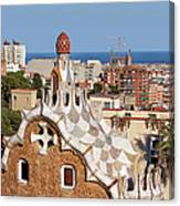 City Of Barcelona From Park Guell Canvas Print
