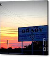 City Of Brady  Canvas Print