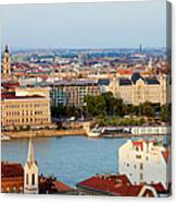 City Of Budapest Cityscape Canvas Print