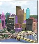 City Of Color Canvas Print