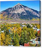 City Of Crested Butte Colorado Panorama   Canvas Print