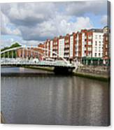 City Of Dublin In Ireland Canvas Print