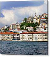 City Of Istanbul Cityscape Canvas Print
