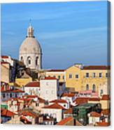 City Of Lisbon In Portugal Canvas Print