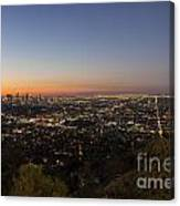City Of Los Angeles Night Canvas Print