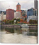 City Of Portland Oregon In The Fall Panorama Canvas Print